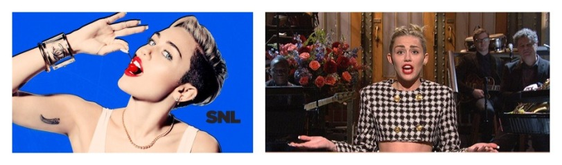 miley snl rtro collage