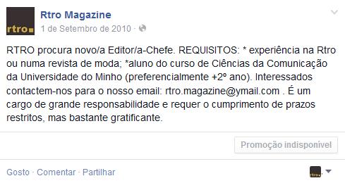 rtro procura editora facebook
